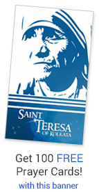 Get 100 free prayer cards with your banner!