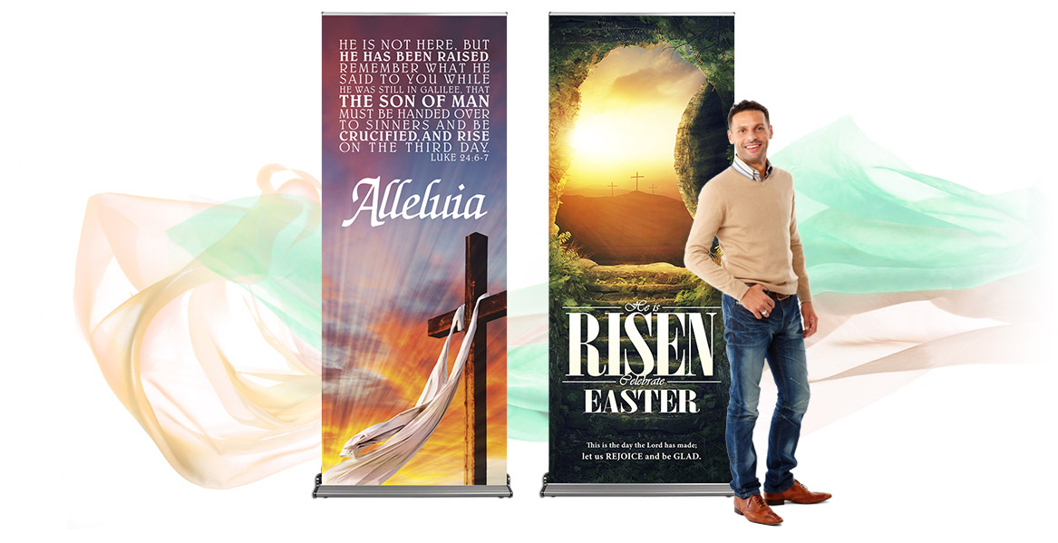 He Is Risen! Easter banners to celebrate!