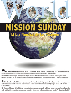 World Mission Sunday 2017 G