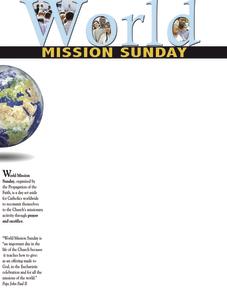 World Mission Sunday 2017 H Wrapper