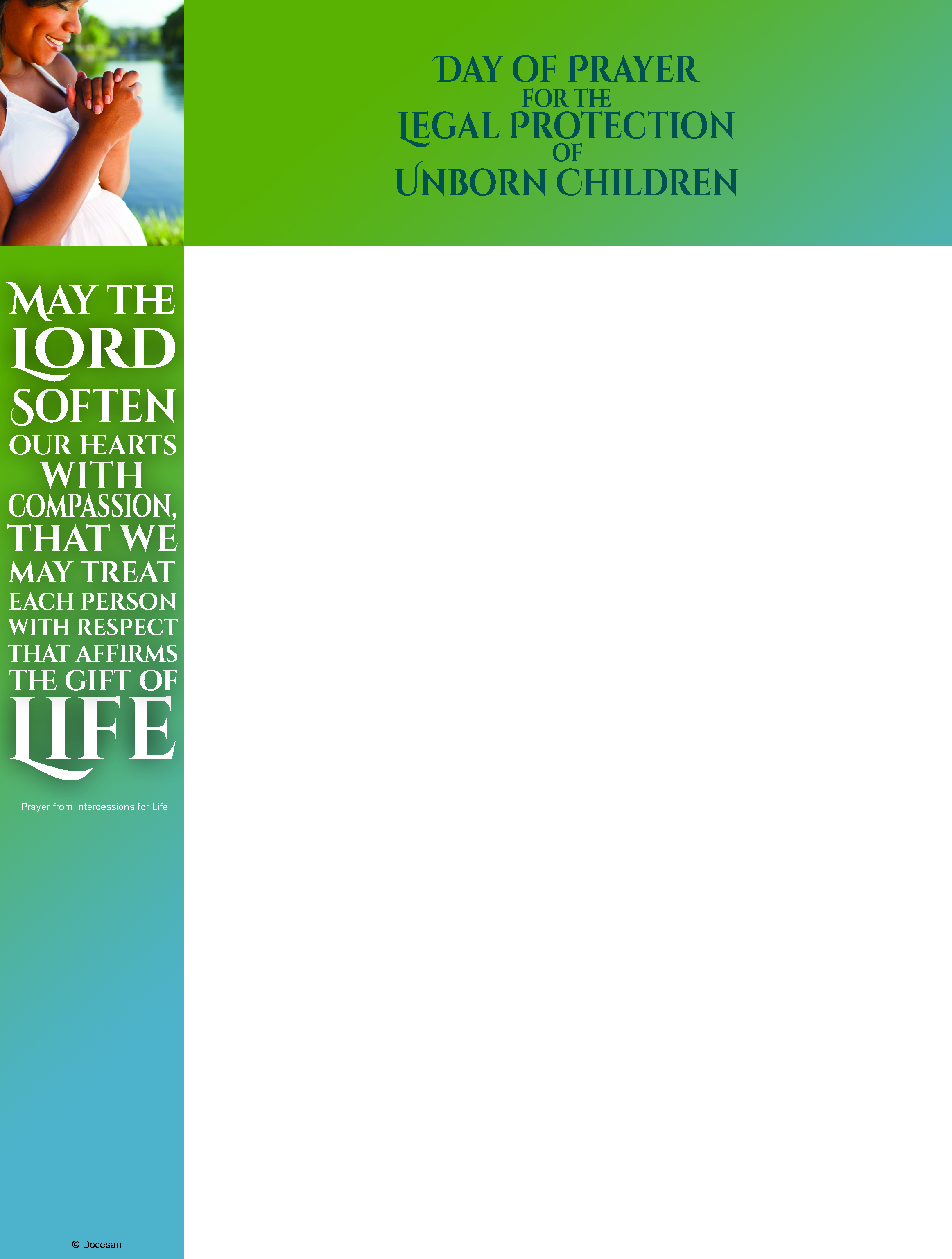 Prayer for Protection of Unborn - Wrapper