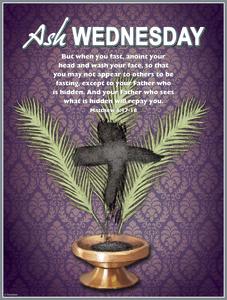 Ash Wednesday Palms