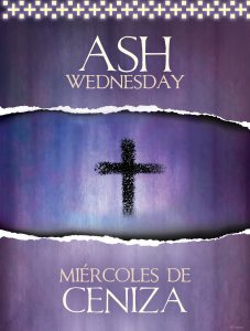 Ash Wednesday Ash Cross Bilingual