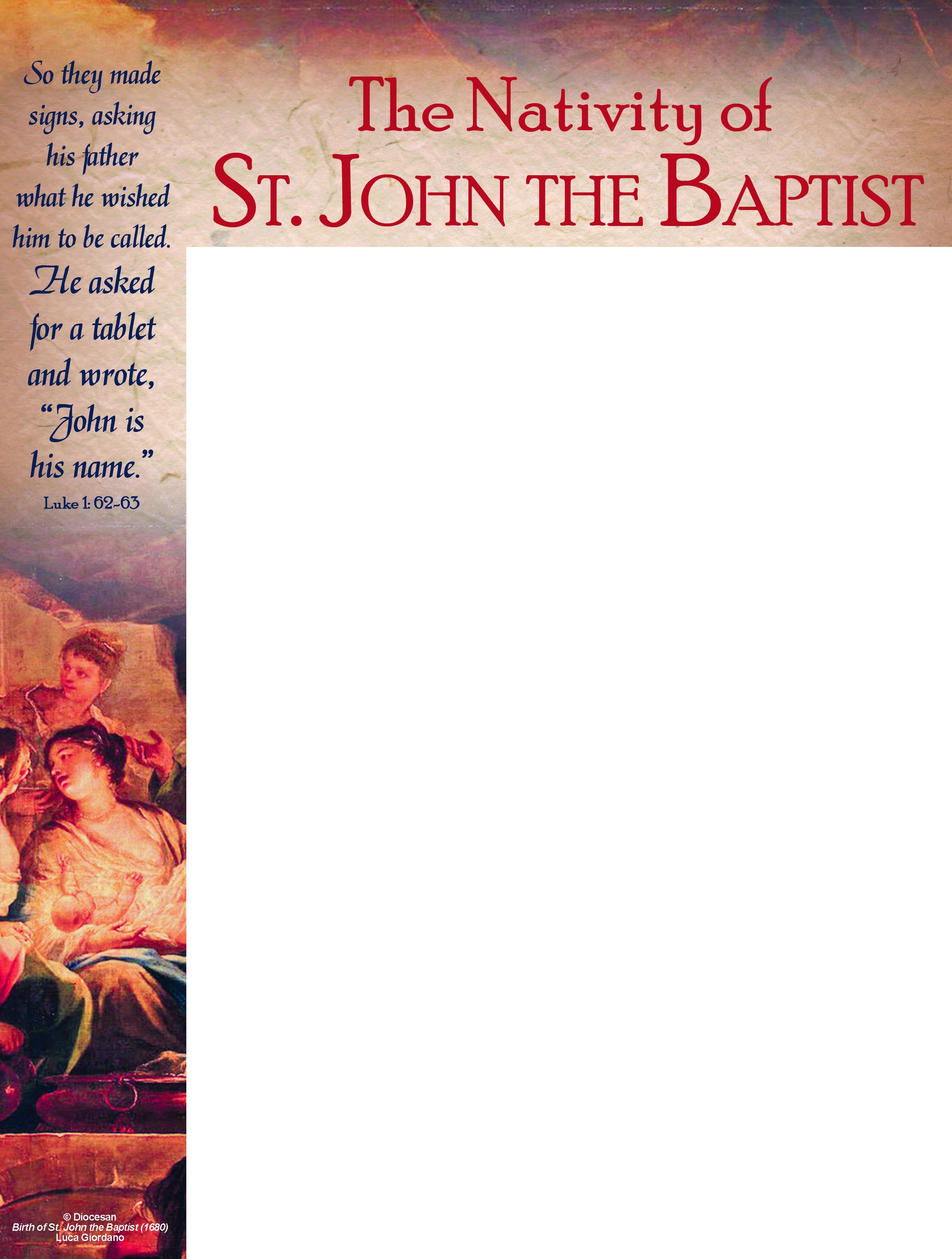 John the Baptist 2018 Traditional Wrapper