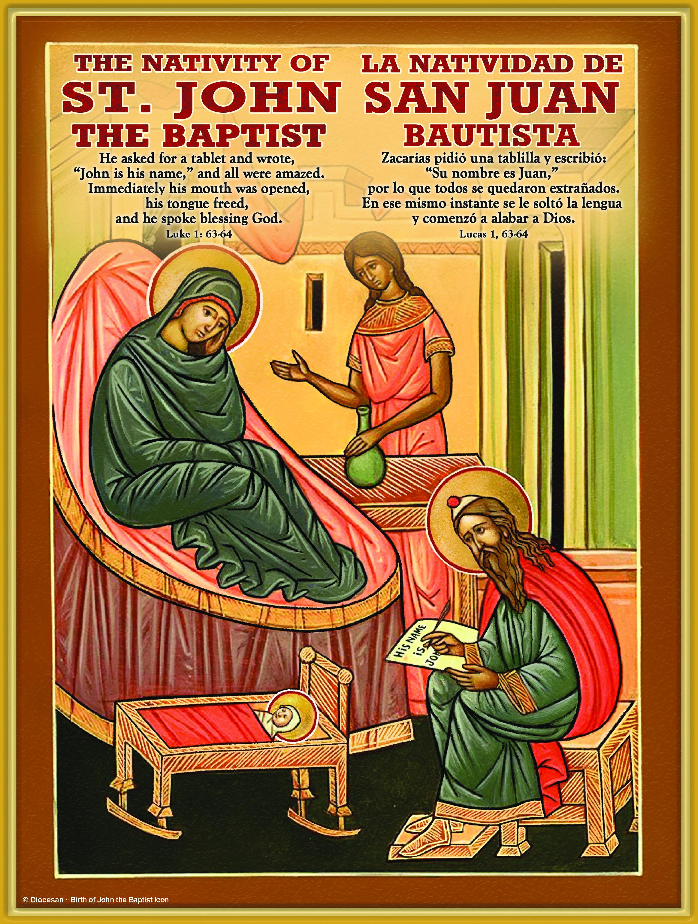 John the Baptist 2018 Iconic Bilingual