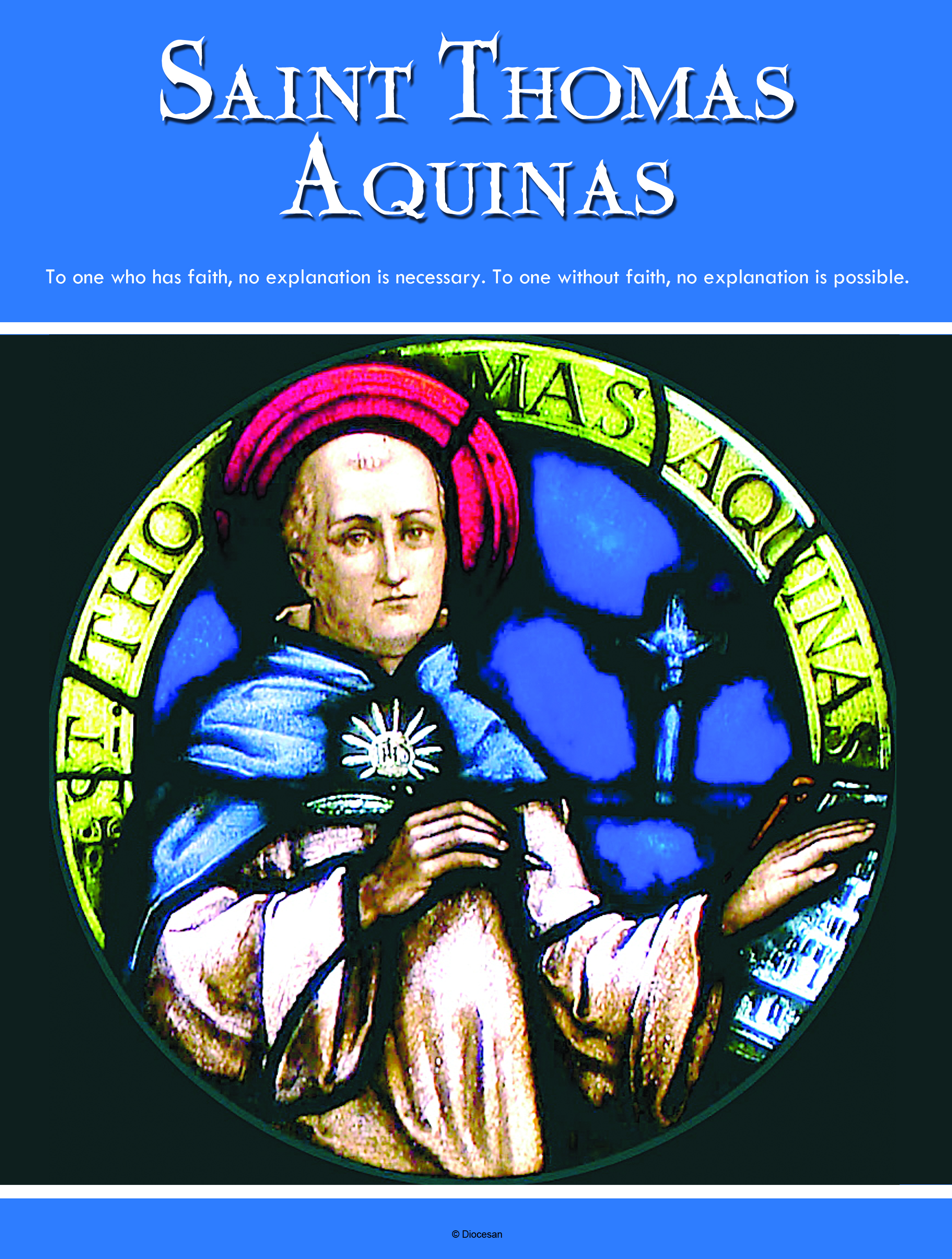 St Thomas Aquinas Blue