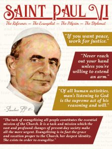 """Pope Paul VI on a postage stamp in the Ajman """"world peace"""" series. DSLR with 100mm macro; no sharpening."""