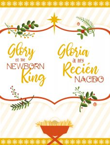 Glory to the Newborn King Bilingual