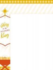Glory to the Newborn King Wrapper