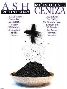 Ash Wednesday Ashes Bilingual