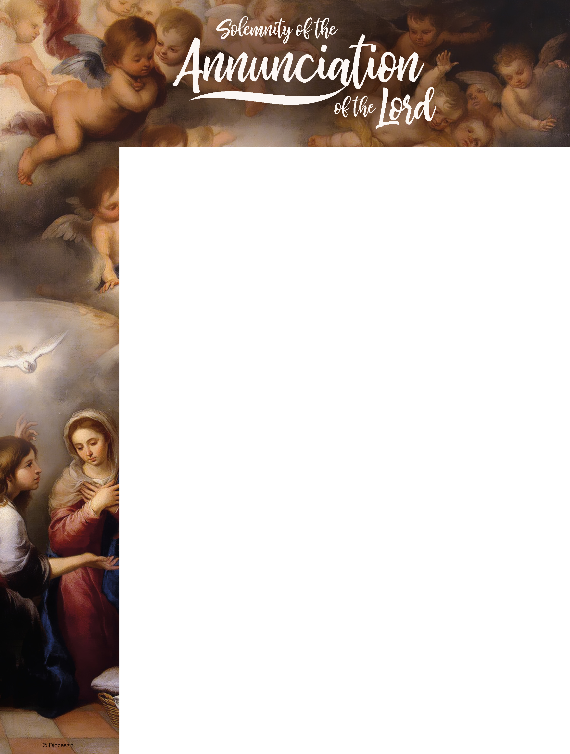 Solemnity of the Annunciation of the Lord - Wrapper
