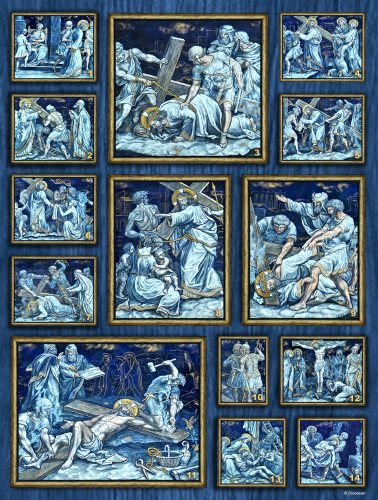 Stations of the Cross Blue