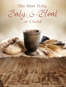 Body and Blood of Christ - Etched Wood