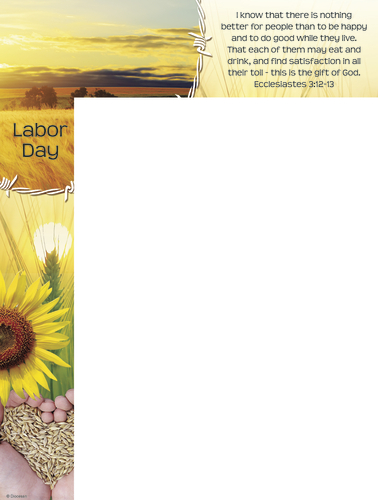 Labor Day - Gifts from God - Wrapper