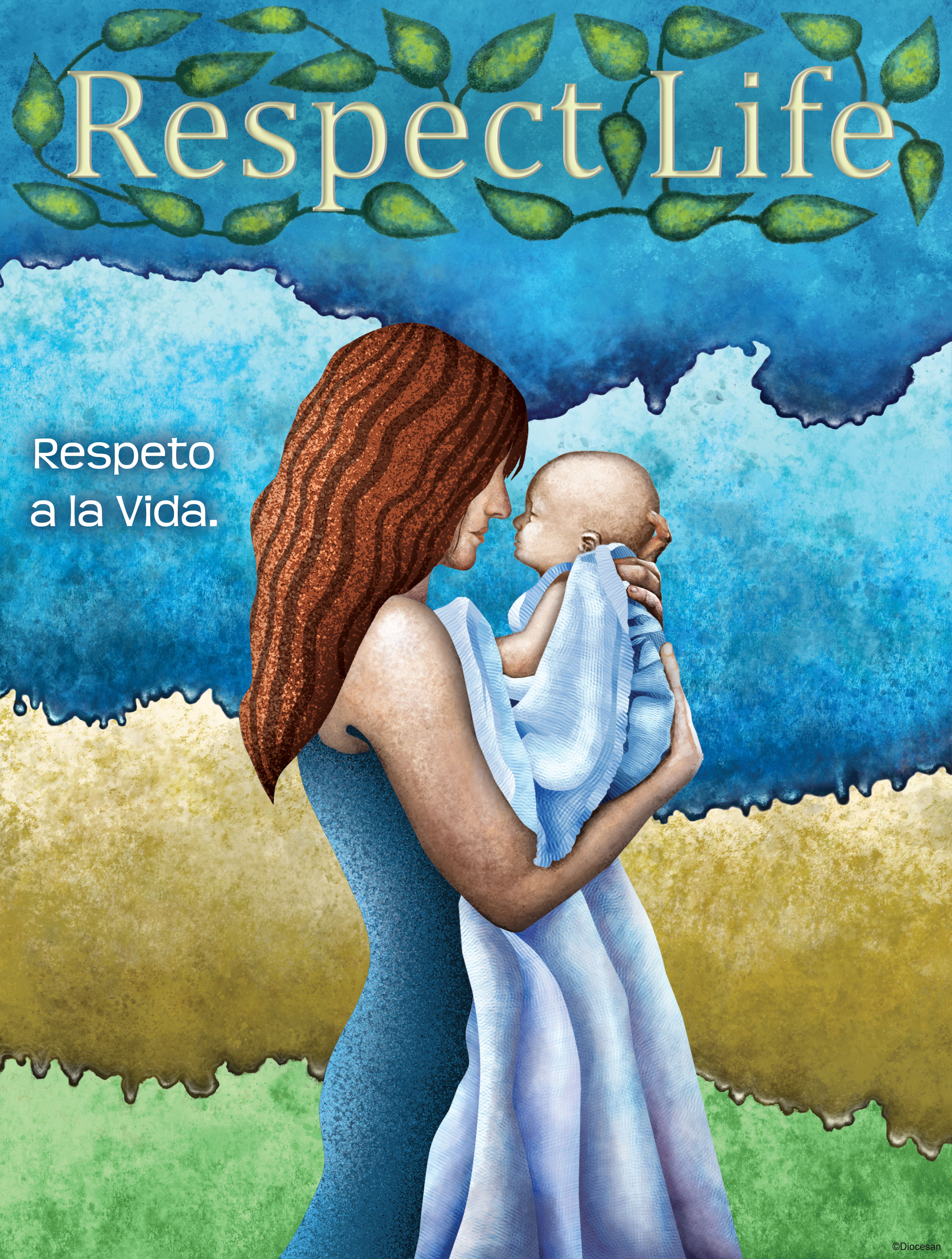 Respect Life - Mother and Child Bilingual
