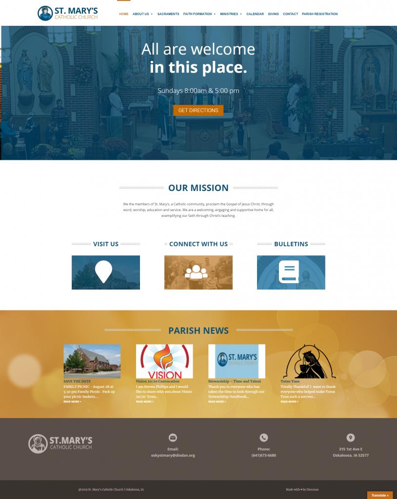 Website Design – Diocesan