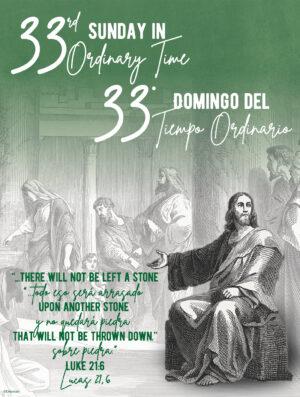33rd Sunday - Etching - Bilingual