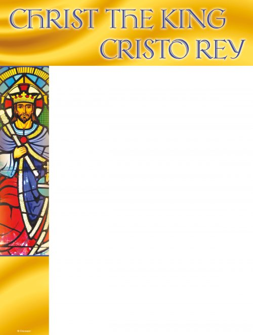 Christ the King Stained Glass - Bilingual Wrapper