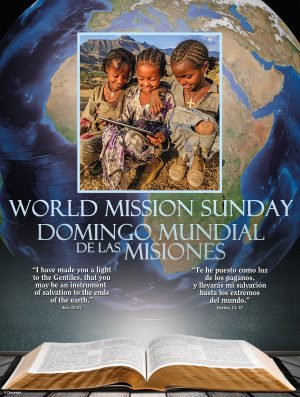World Mission Sunday - Blue - Bilingual