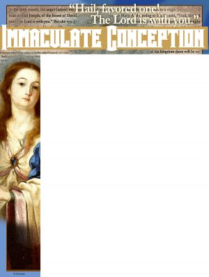 Immaculate Conception - The Lord is With You Wrapper