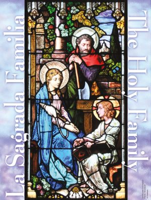 Holy Family Stained Glass Bilingual