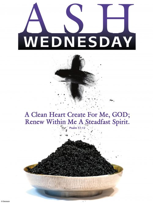 Ash Wednesday Ashes