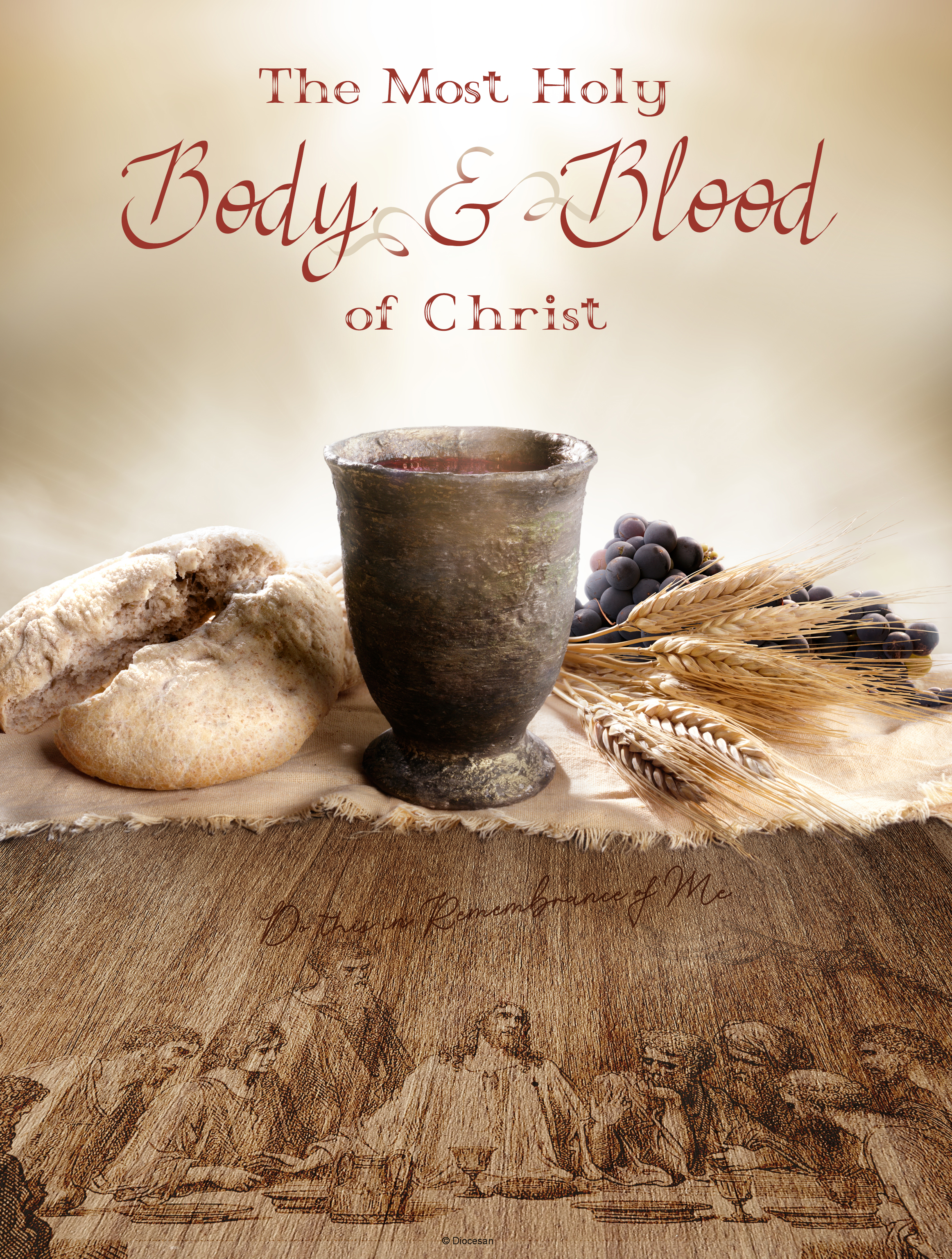 Body and Blood of Christ – Etched Wood – Diocesan