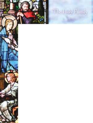 Holy Family Stained Glass Wrapper