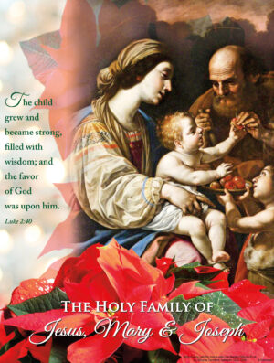 Holy Family - Poinsettia