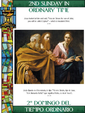 2nd Sunday of Ordinary Time - Stained Glass - Bilingual