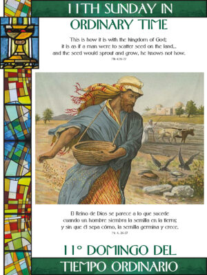 11th Sunday of Ordinary Time - Stained Glass - Bilingual