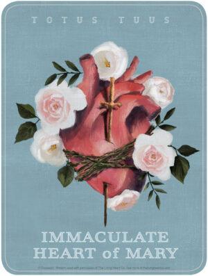 Immaculate Heart - Totus Tuus - The Living Art Co.