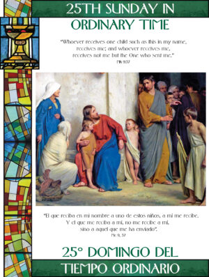 25th Sunday of Ordinary Time - Stained Glass - Bilingual