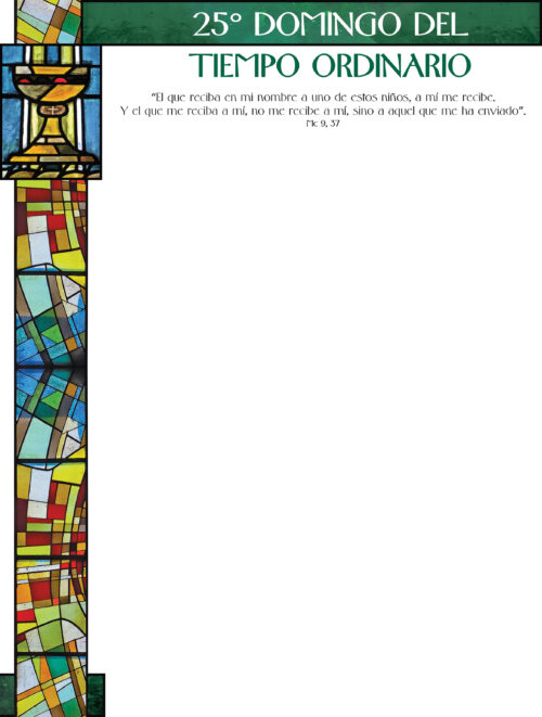 25th Sunday of Ordinary Time - Stained Glass - Spanish Wrapper