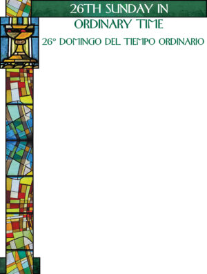 26th Sunday of Ordinary Time - Stained Glass - Bilingual Wrapper