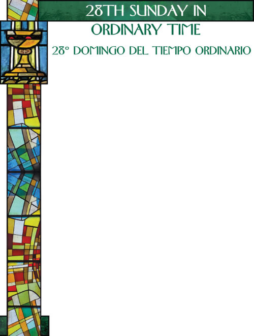 28th Sunday of Ordinary Time - Stained Glass - Bilingual Wrapper