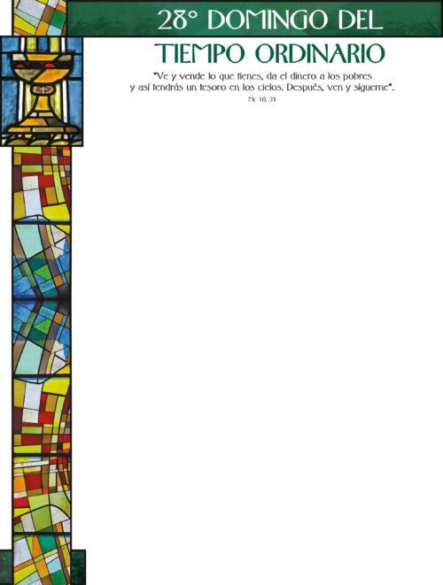 28th Sunday of Ordinary Time - Stained Glass - Spanish Wrapper